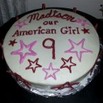 American Girl Birthday Cake American Girl Birthday Cake Bakerlady