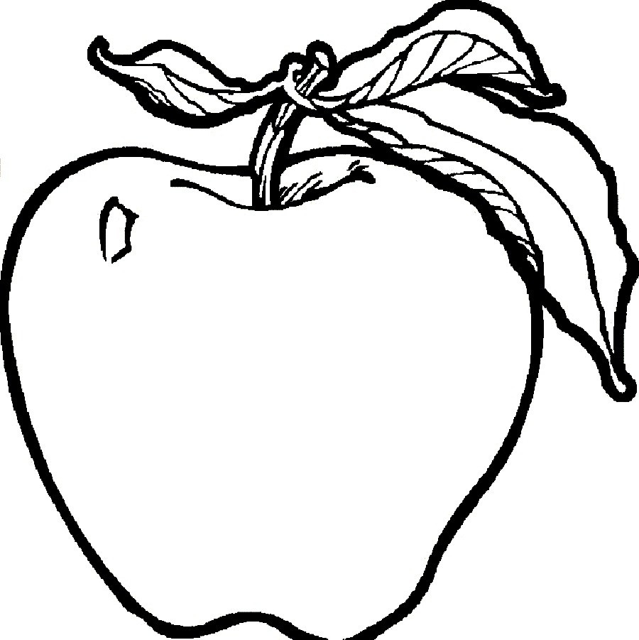 Apple Coloring Pages Apple Coloring Page Cool Fruits And Vegetables Coloring Pages Pdf
