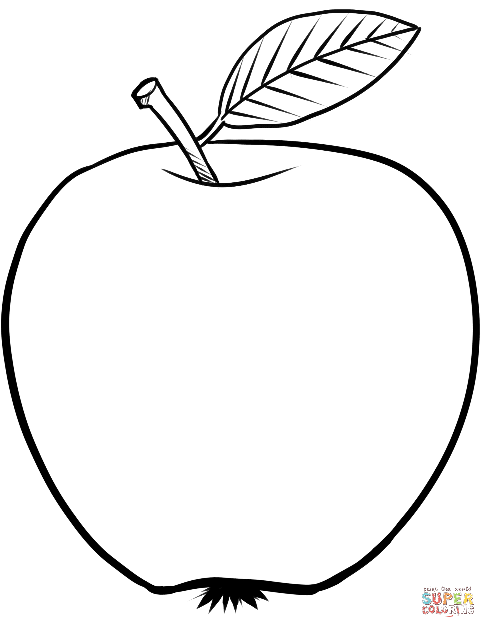Apple Coloring Pages Apple Coloring Page Free Printable Coloring Pages