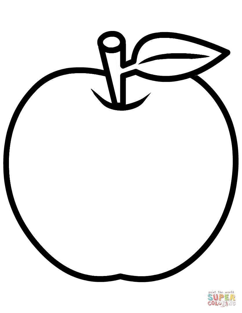 30+ Best Picture of Apple Coloring Pages