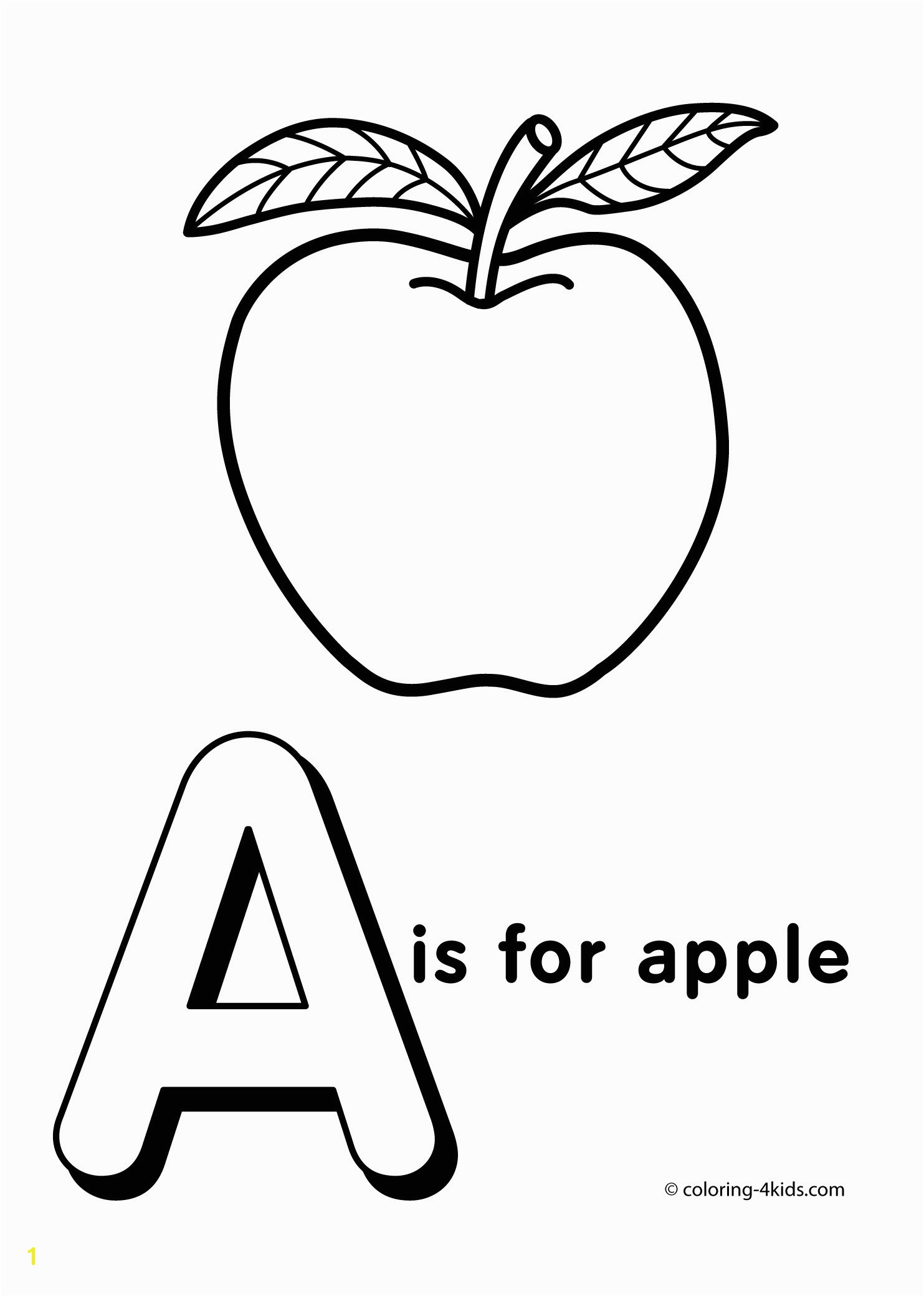 Apple Coloring Pages Food Coloring Pages Elegant Photos Letter A For Apple Coloring