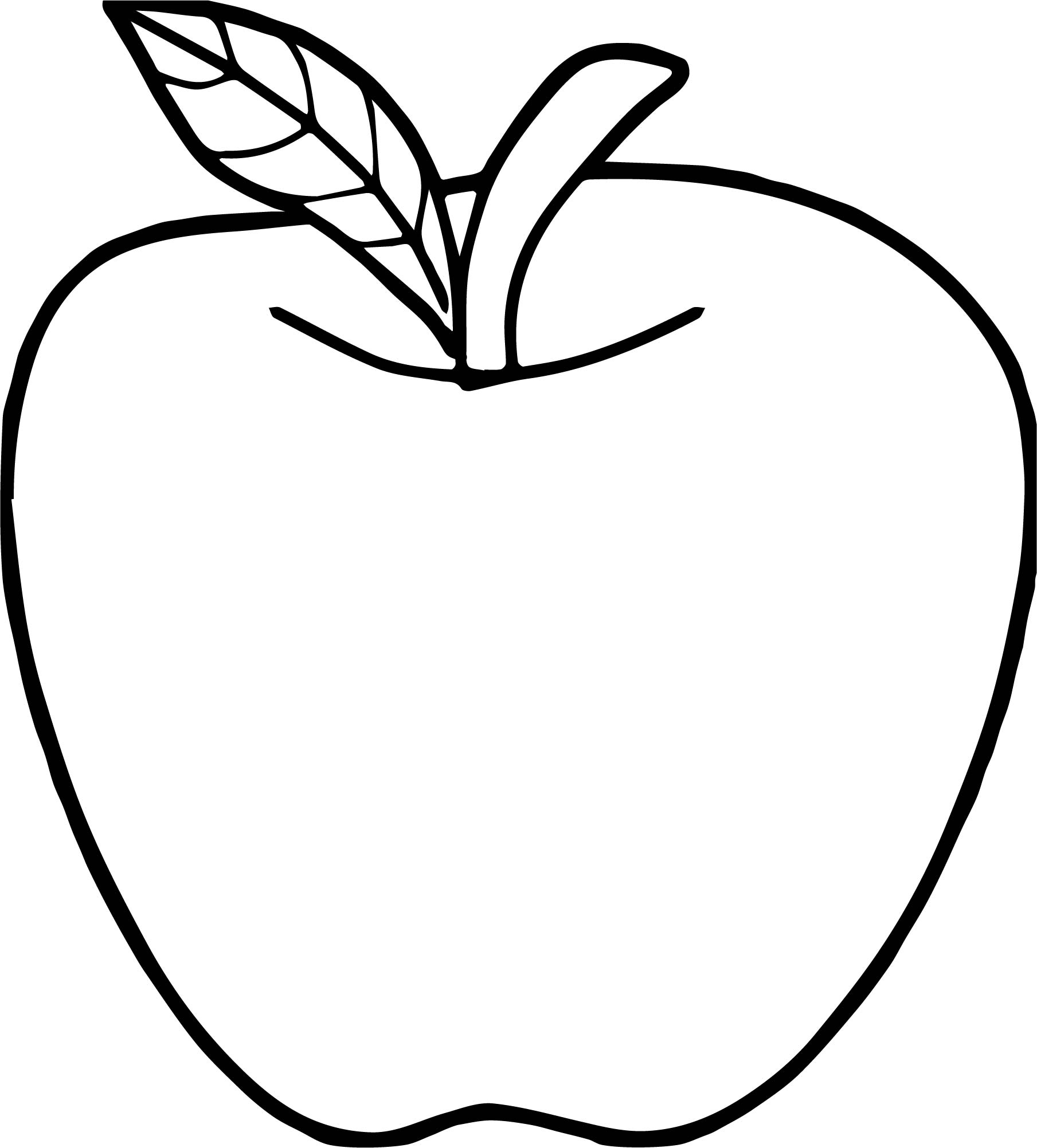 Apple Coloring Pages Good Apple Coloring Page Wecoloringpage
