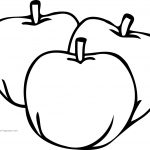 Apple Coloring Pages Just Three Apple Coloring Pages Wecoloringpage