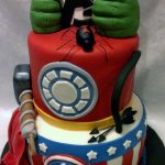 Avenger Birthday Cake Avengers Birthday Cake An Avengers Cake I Made For A 4 Year Old