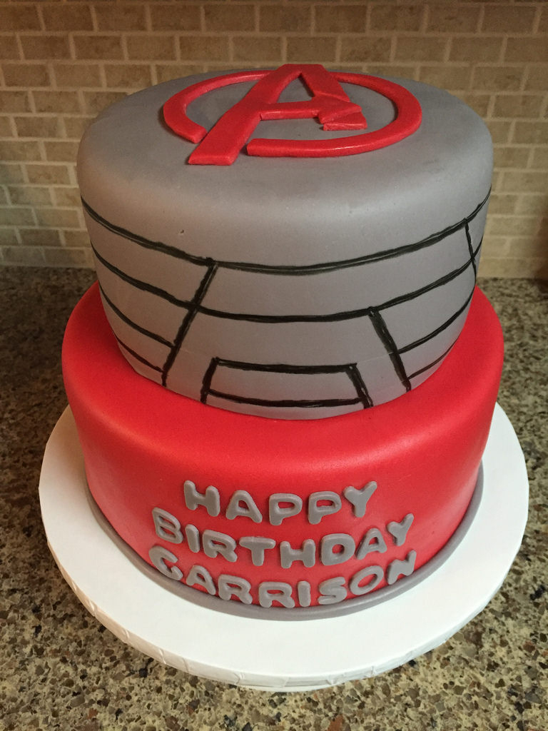 Avenger Birthday Cake Avengers Birthday Cake Avengers Birthday Cake Red And Gre Flickr
