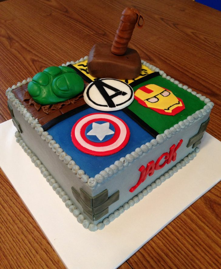 Avenger Birthday Cake Avengers Birthday Cake Buttercream Frosting With Mmf Accen Flickr