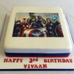 Avenger Birthday Cake Avengers Icing Print Cake Boys Birthday Cakes Celebration Cakes