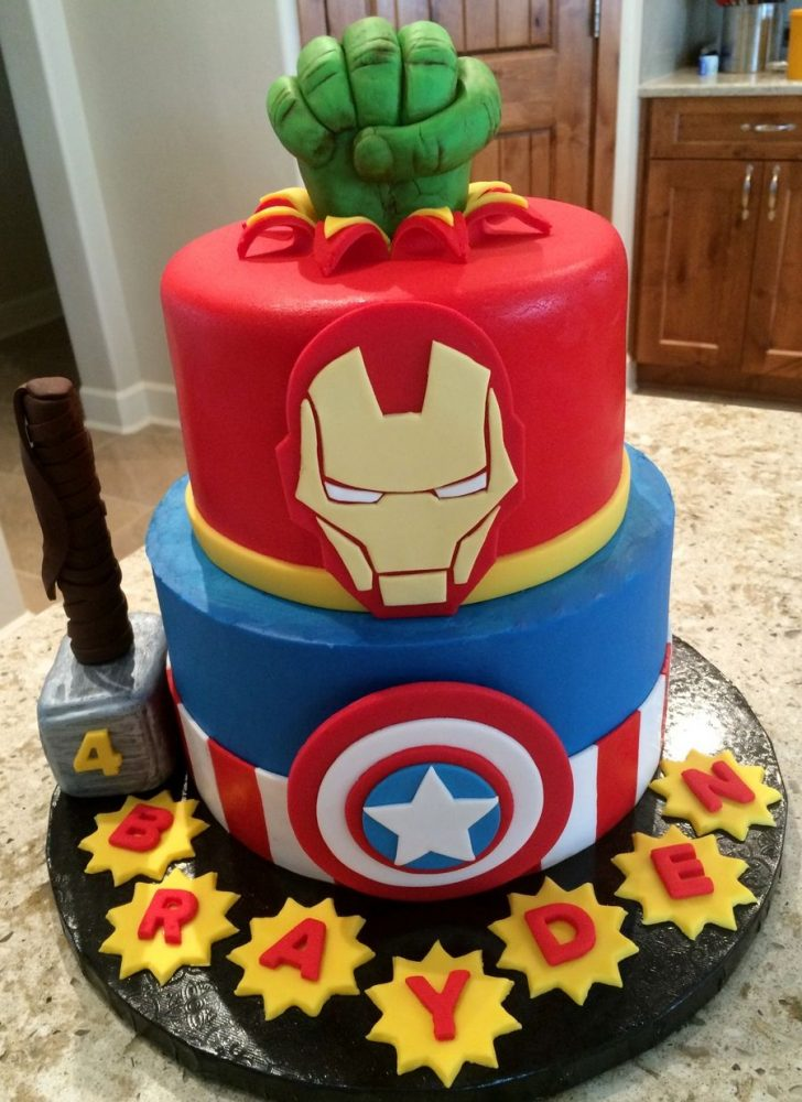 Avenger Birthday Cake I Did This Cake For My Grandson Who Is Obsessed Beautiful Cakes