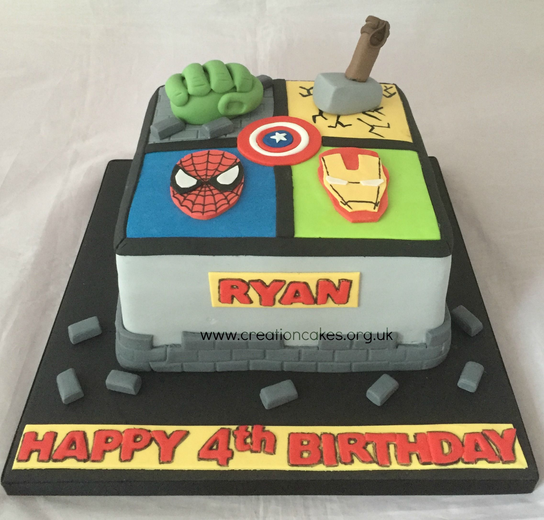 Avenger Birthday Cake Marvel Avengers Birthday Cake 3rd Bday Cake Faves Pinterest
