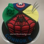 Avenger Birthday Cake Marvel Avengers Birthday Cake With Hulk Fist Wolverine Spiderman