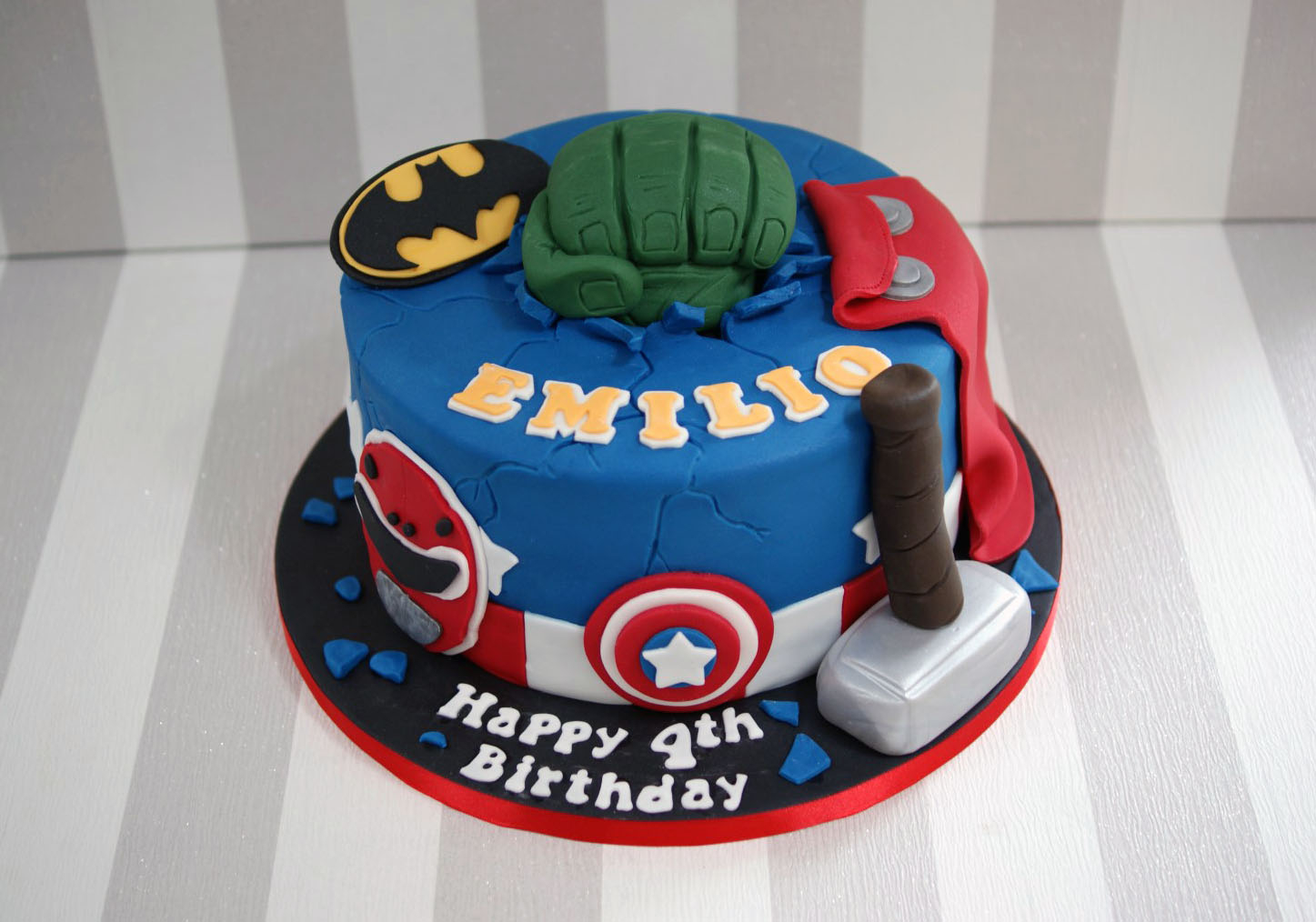 Avenger Birthday Cake Power Rangers And Avengers Birthday Cake 1 Bakealous