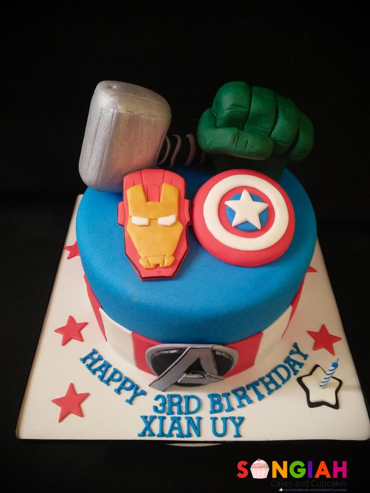 Avenger Birthday Cake Songiah Xians The Avengers Birthday Cake
