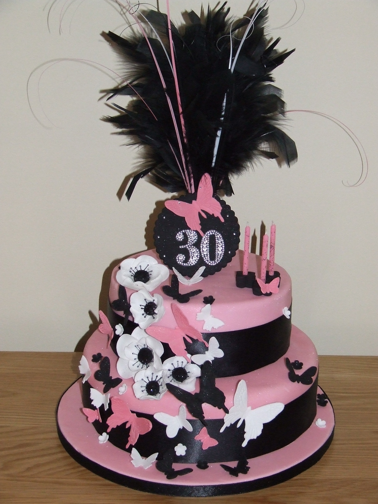 Awesome 30Th Birthday Cakes 30th Birthday Cake This Was Very Moulin Rouge A Very G Flickr