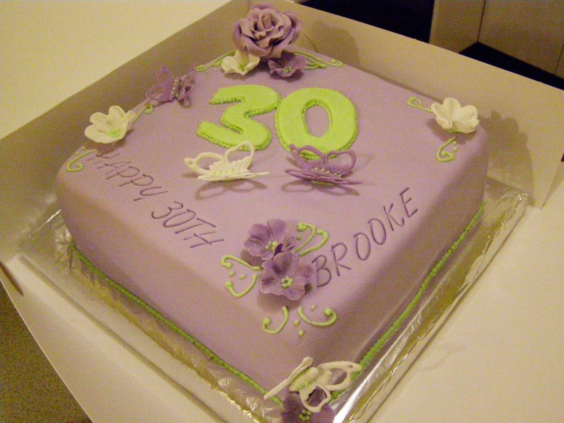 Awesome 30Th Birthday Cakes Amazing 30th For Her Cake Decorations Cupcake Ideas