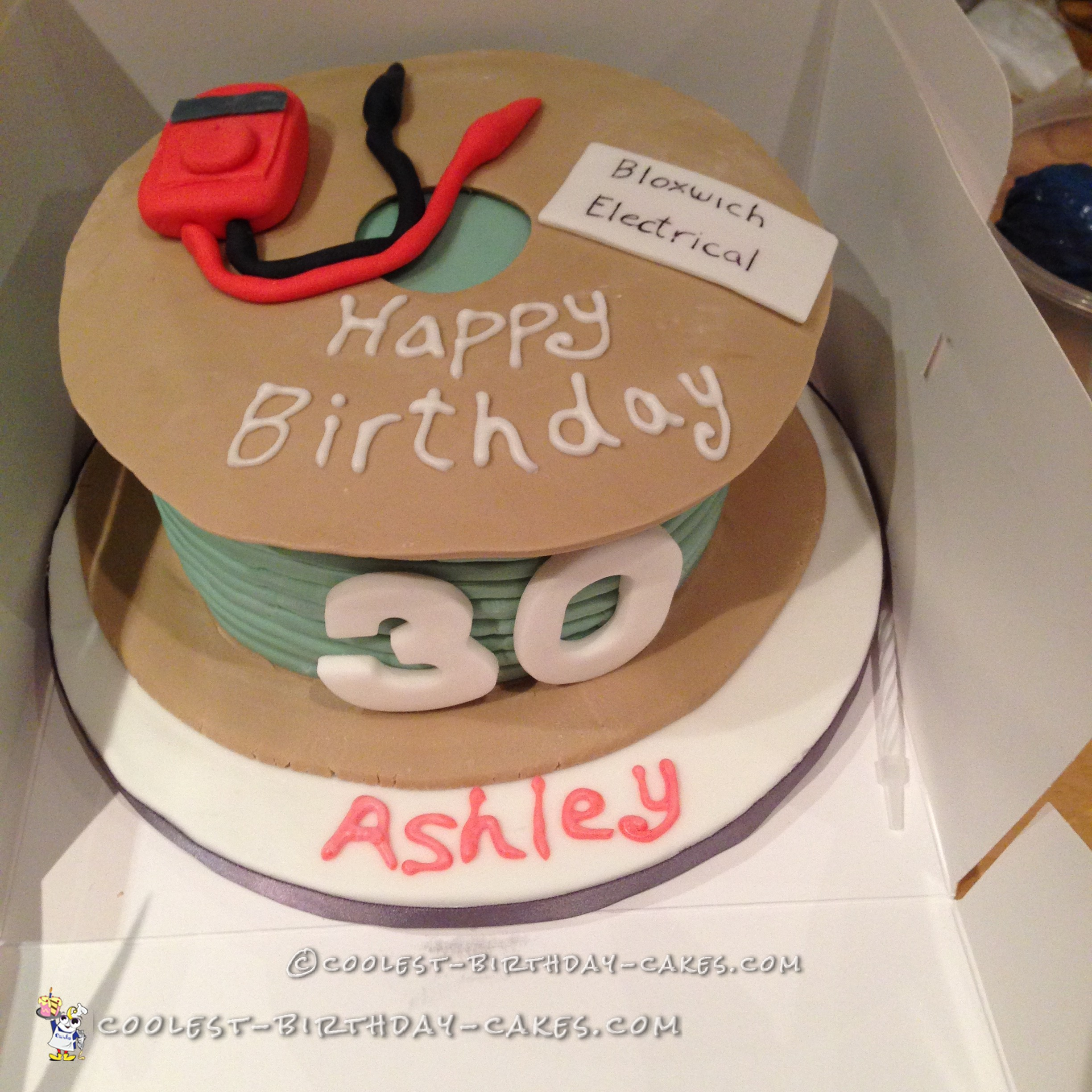Awesome 30Th Birthday Cakes Cool Electrical Cable Cake