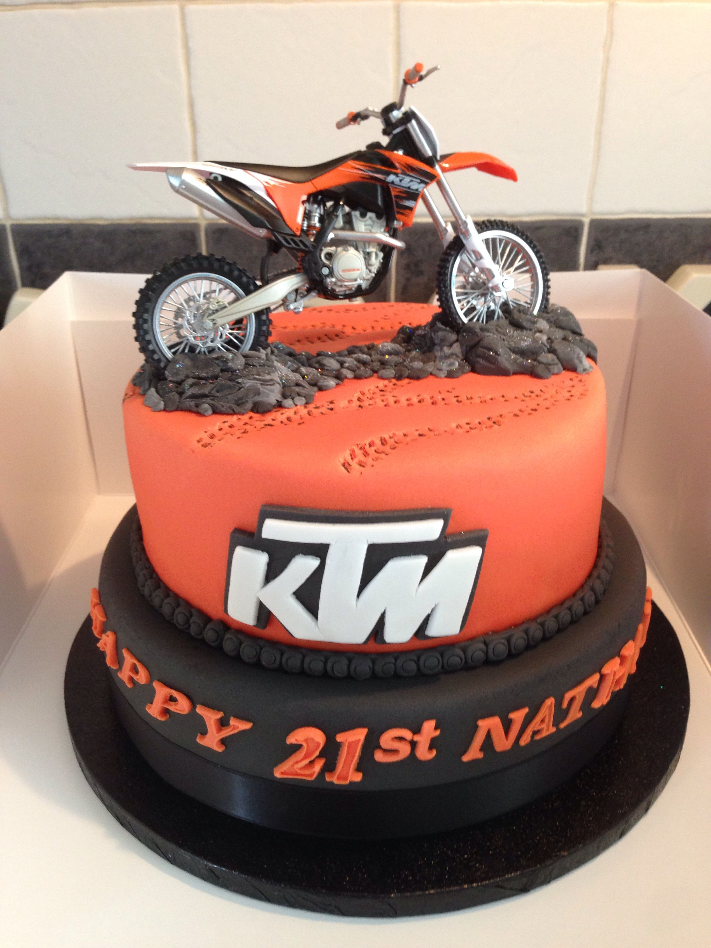 Awesome Birthday Cakes Really Cake With A Ktm Dirt Bike On It