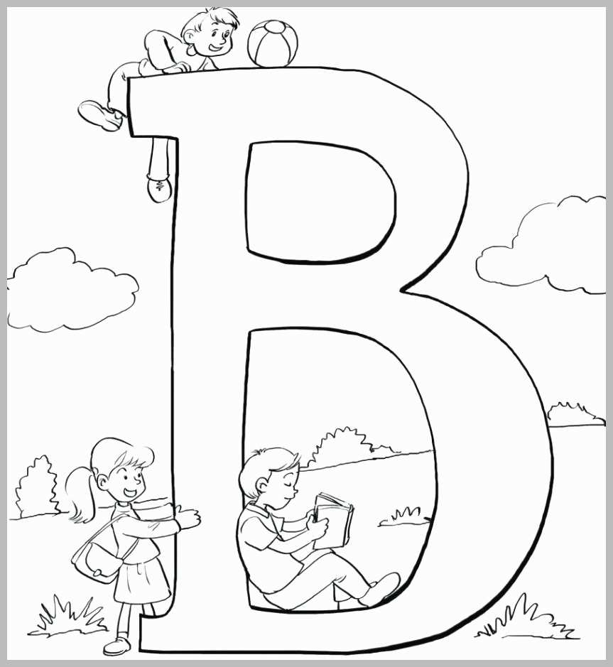 B Coloring Page Abc Coloring Pages For Preschoolers New Unique Letter B Coloring
