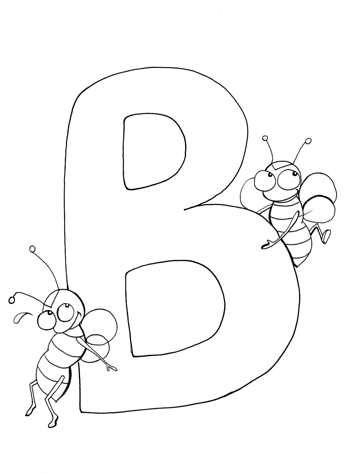 B Coloring Page Animal Alphabet B Coloring Page Stock Vector Illustration Of Fonts