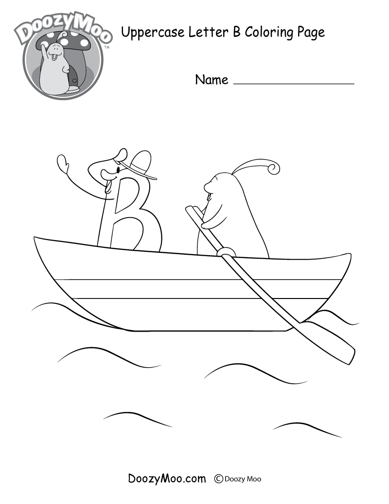 B Coloring Page Cute Uppercase Letter B Coloring Page Free Printable Doozy Moo