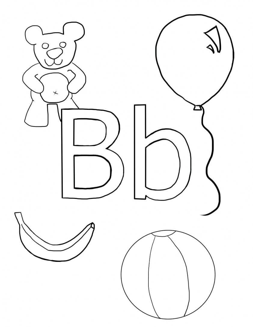 B Coloring Page Letter B Coloring Page Coloring Page For Kids