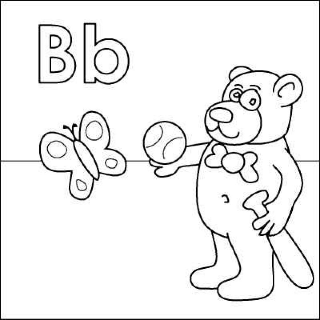 B Coloring Page Letter B Coloring Pages Ribsvigyapan Fee For Adults Webaliz Me And
