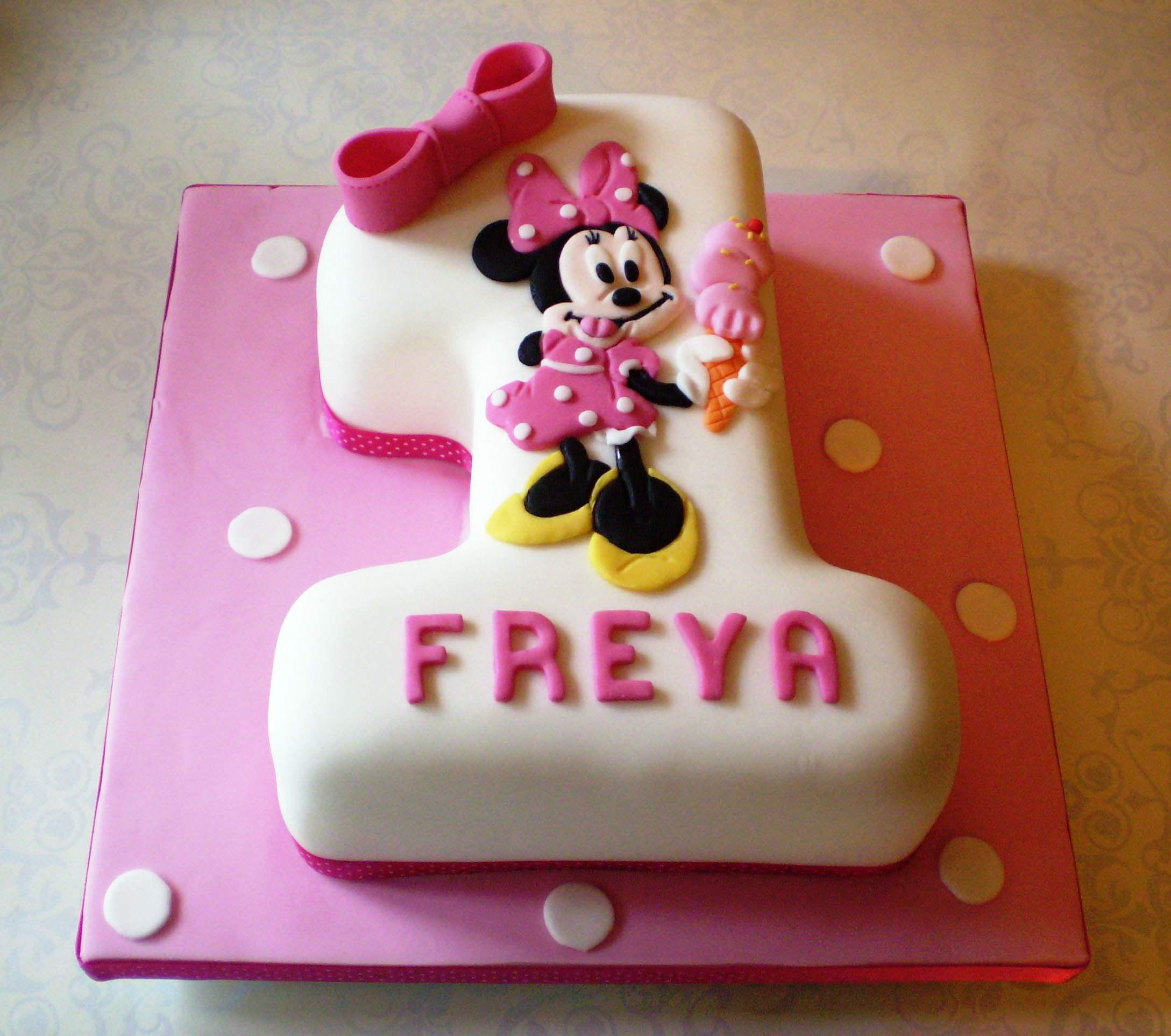 Baby 1st Birthday Cake Ba Minnie Mouse 1st Birthday Cake Protoblogr