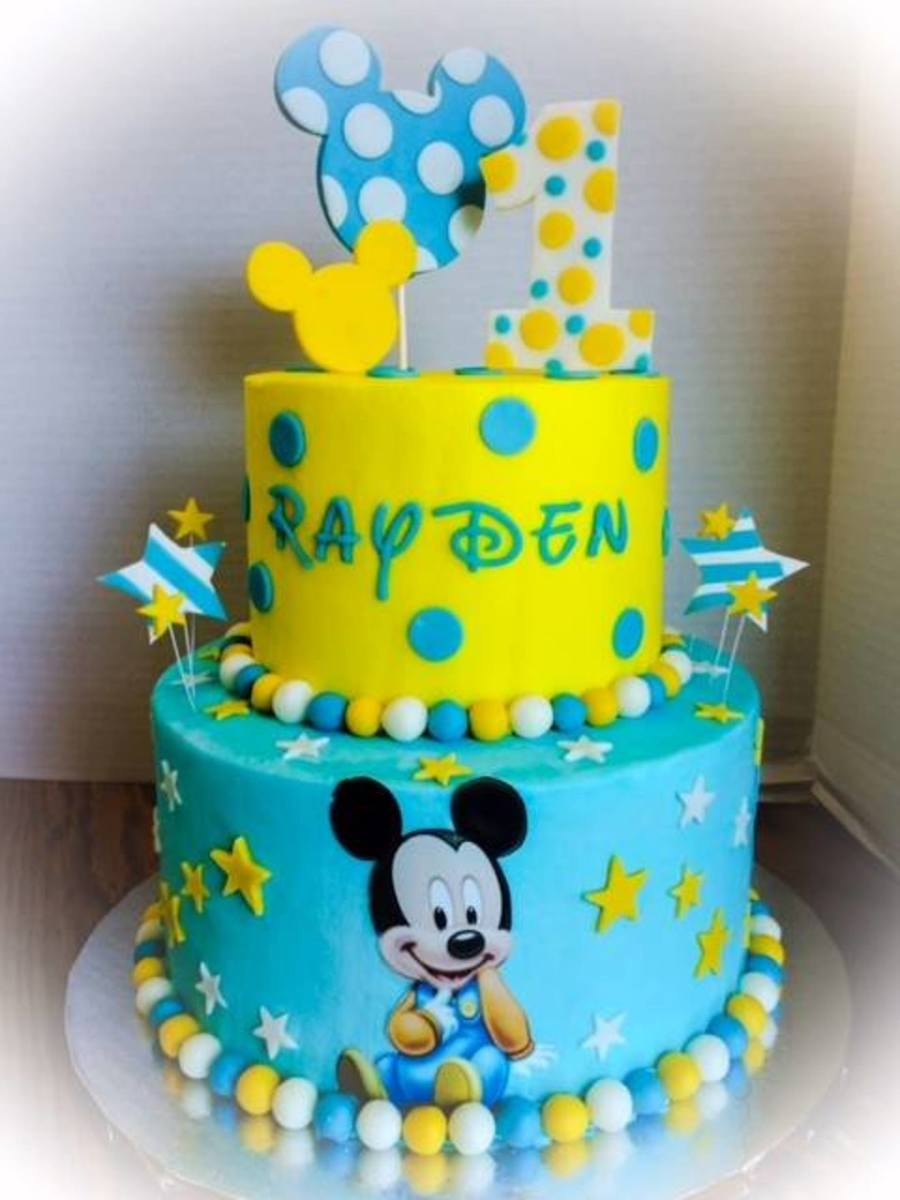 Baby 1St Birthday Cake First Birthday Ba Mickey Cakecentral