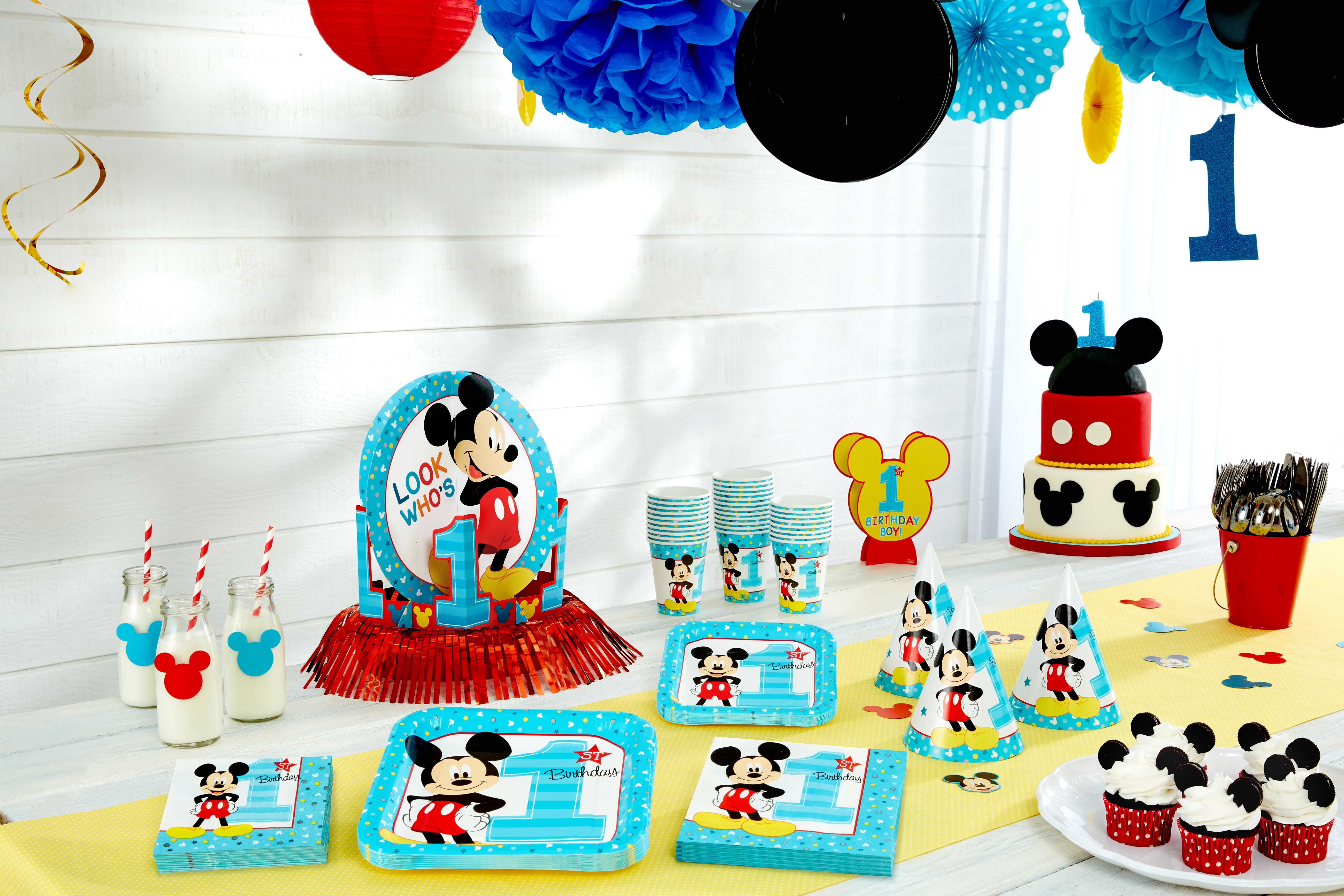 Baby 1St Birthday Cake Mickey Mouse First Birthday Partyware Disney Ba