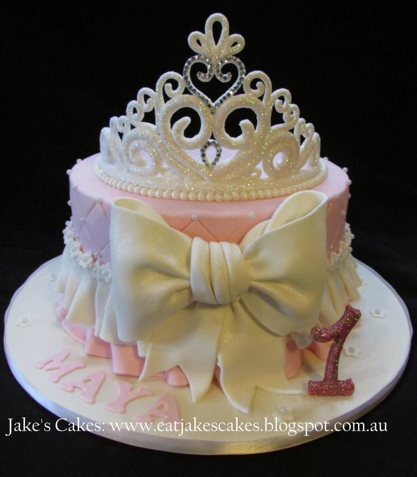 Baby 1St Birthday Cake My Ba Girls First Birthday Cake Loved It Princess Party