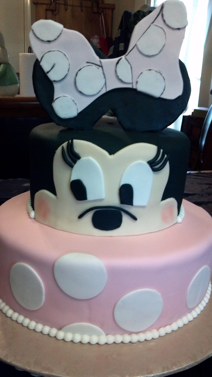 Baby Girl Birthday Cake Minnie Mouse Birthday Cake For Ba Girl Turning 1 Cakecentral