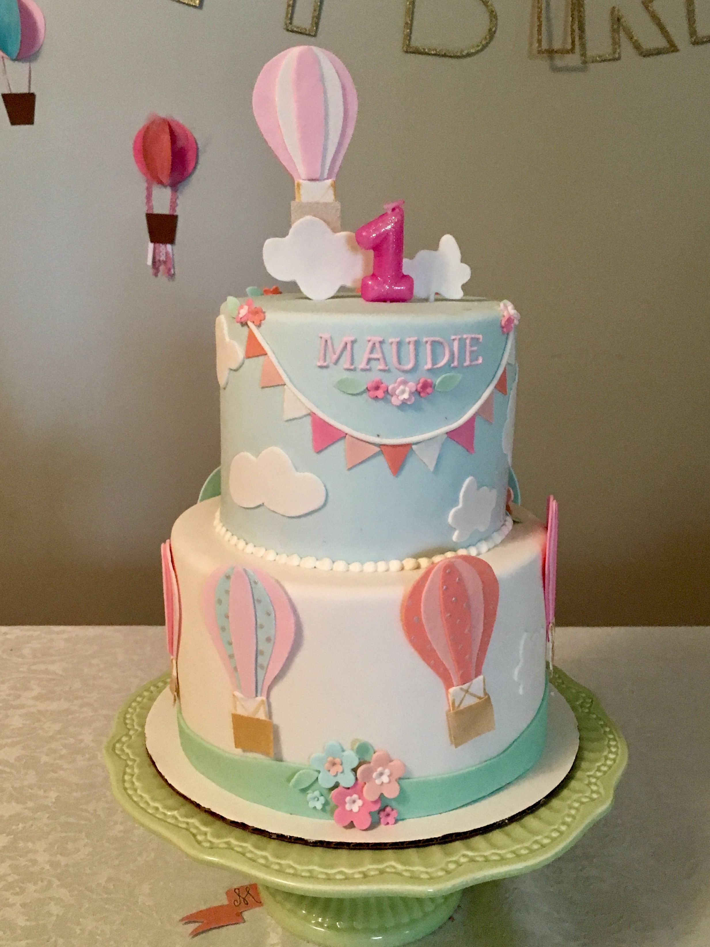 Balloon Birthday Cake 1st Birthday Hot Air Balloon Cake Hot Air Balloons In 2018