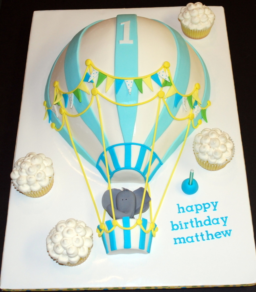 Balloon Birthday Cake Hot Air Balloon Birthday Cake Cakecentral