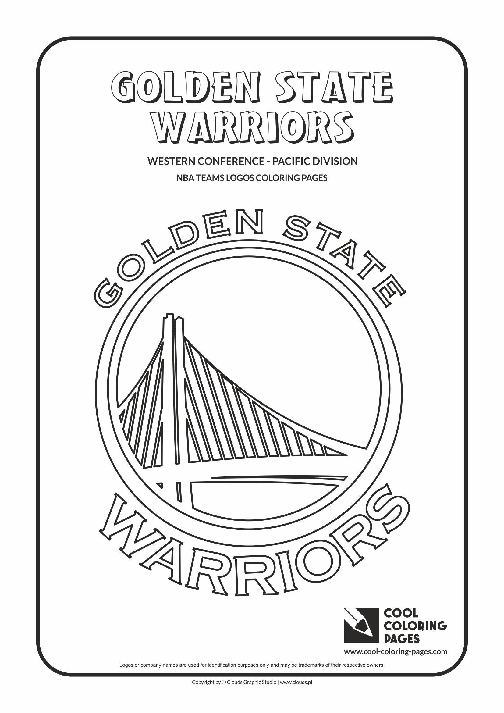 Basketball Coloring Pages Cool Coloring Pages Golden State Warriors Nba Basketball Teams