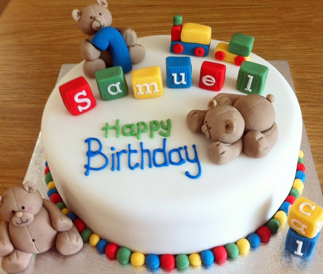 1258 X 1068 In 34 Creative Image Of Bear Birthday Cake