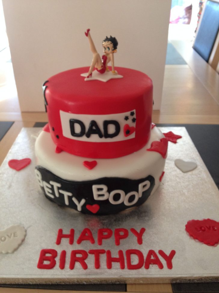 Betty Boop Birthday Cakes Dads 70th Cake And Cookie