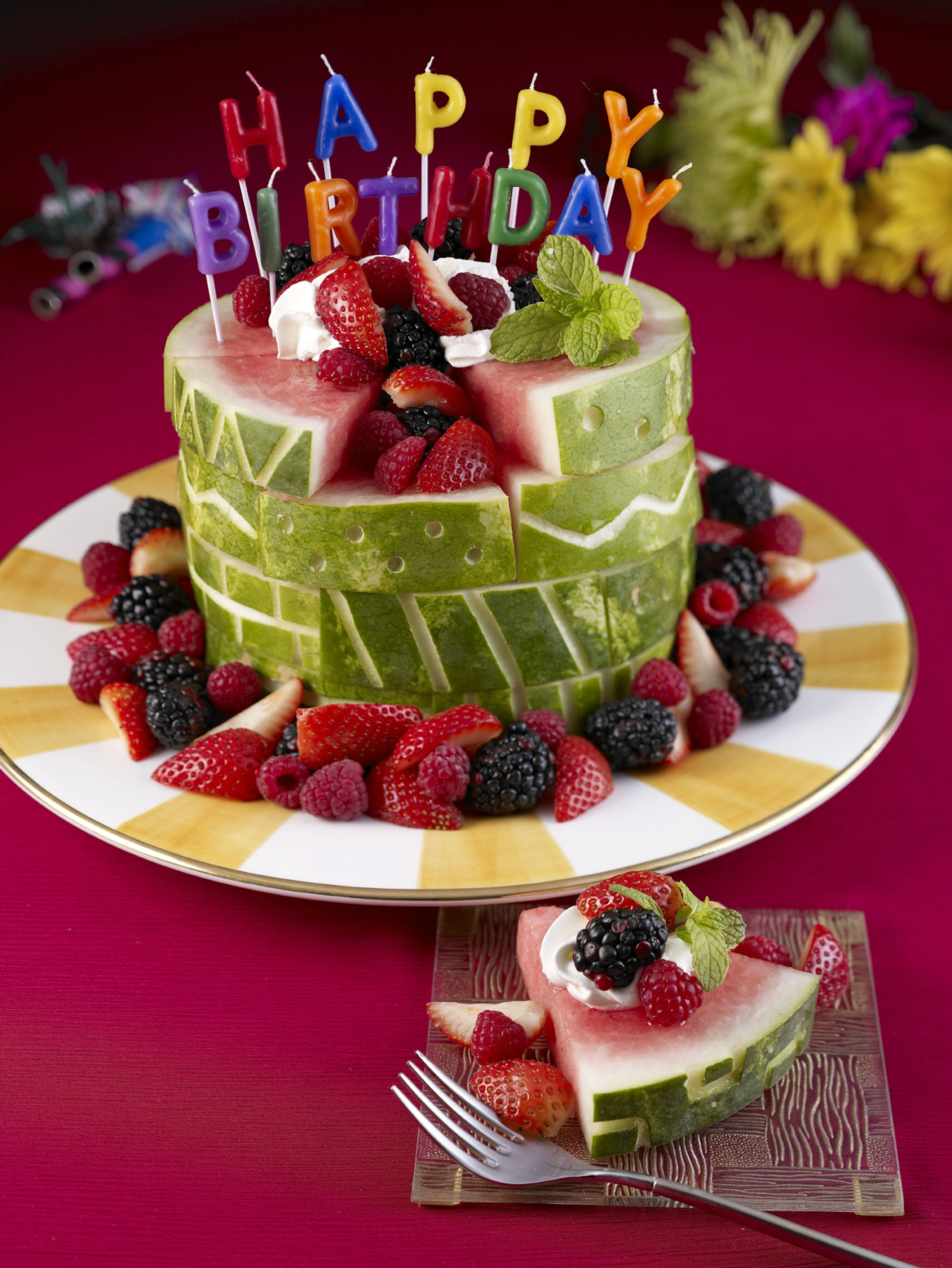 Birthday Cake Alternatives Watermelon Board What A Great Alternative To
