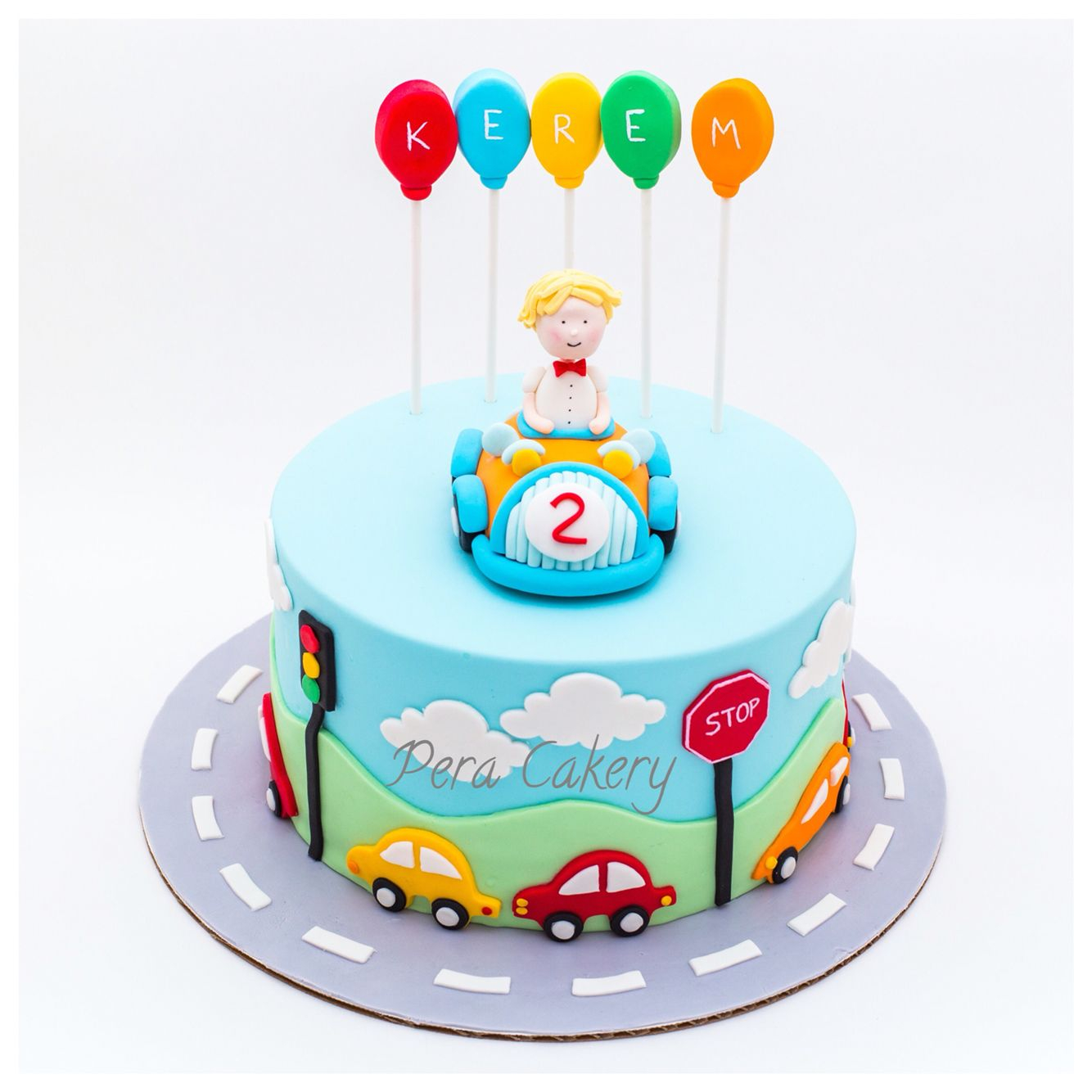 Birthday Cake Boy Car Cake For A 2 Year Old Boy Pera Cakery Cakes Pinterest Cake