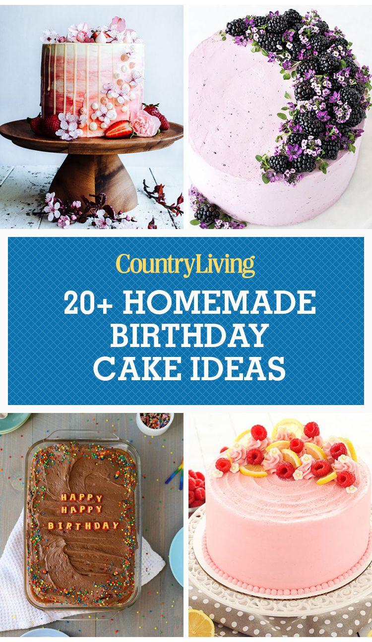 Birthday Cake Designs For Adults 24 Homemade Birthday Cake Ideas Easy Recipes For Birthday Cakes