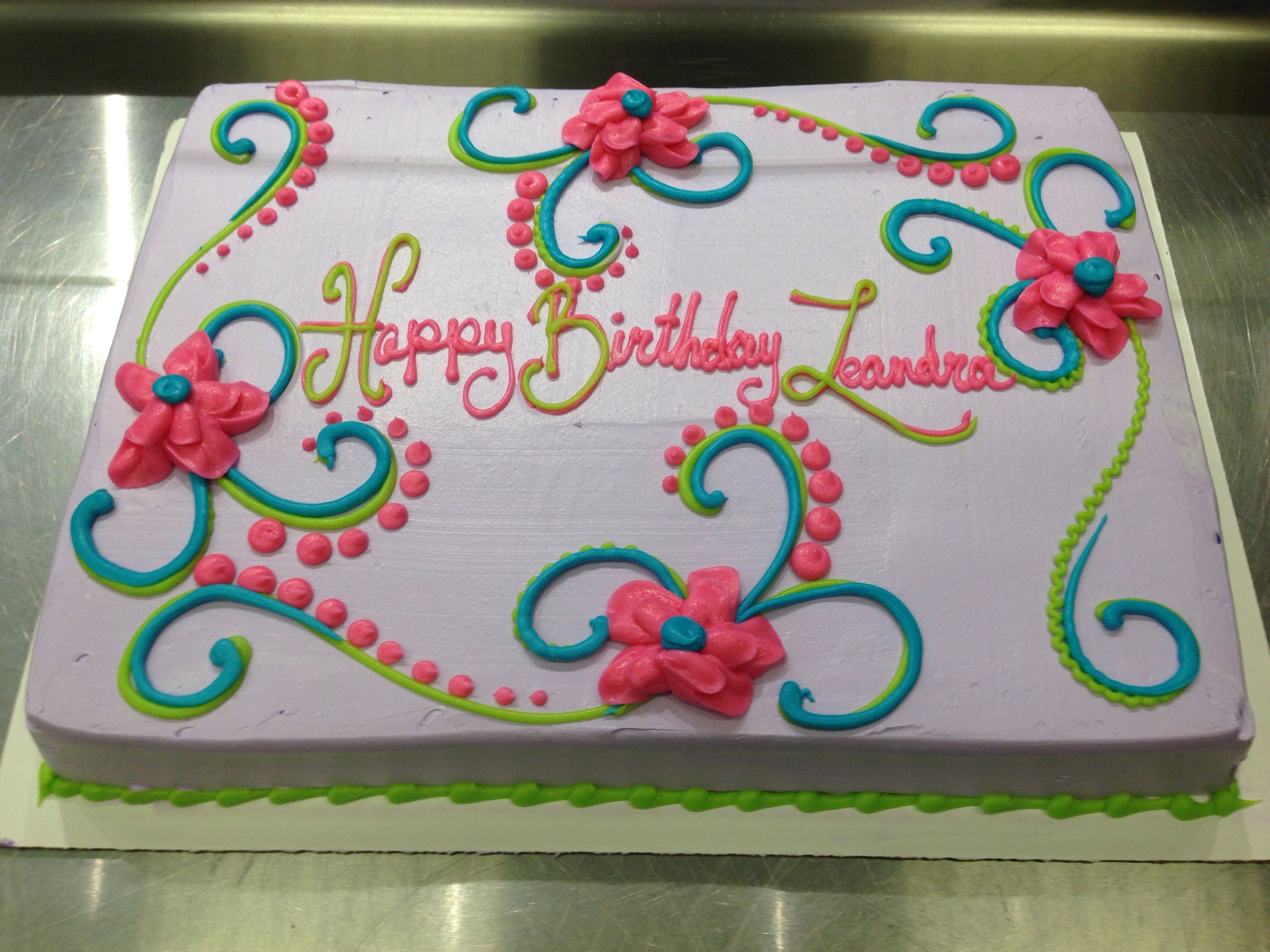 Birthday Cake Designs For Adults Scrolls And Flowers Girly Birthday Cake Cakes I Made Pinterest