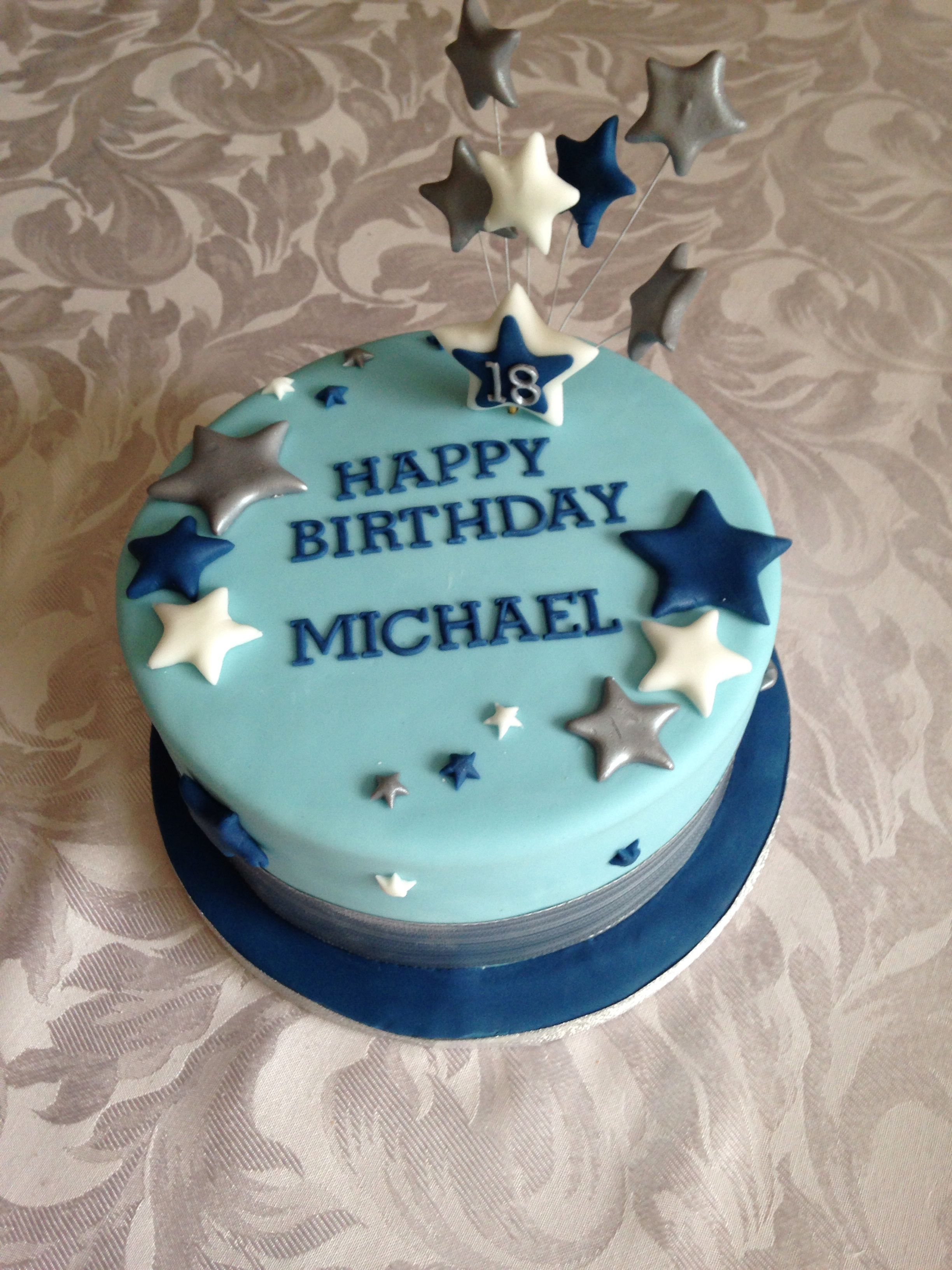 Birthday Cake Designs For Adults Simple 18th Birthday Cake For A Boy Prestons 18th Birthday Party