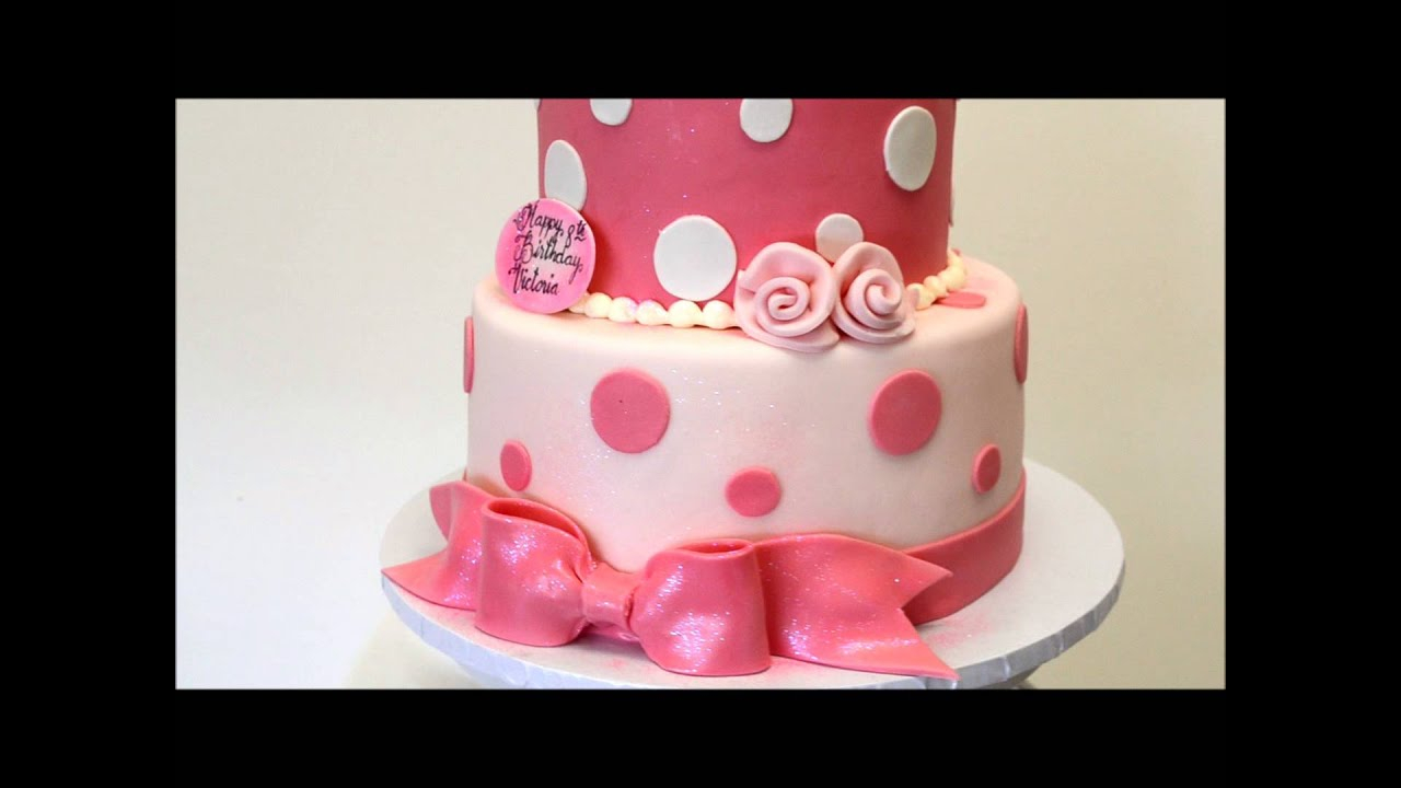 Birthday Cake Designs Pink And White Birthday Cake Birthday Cake Idea 2 Tier Ba Cake