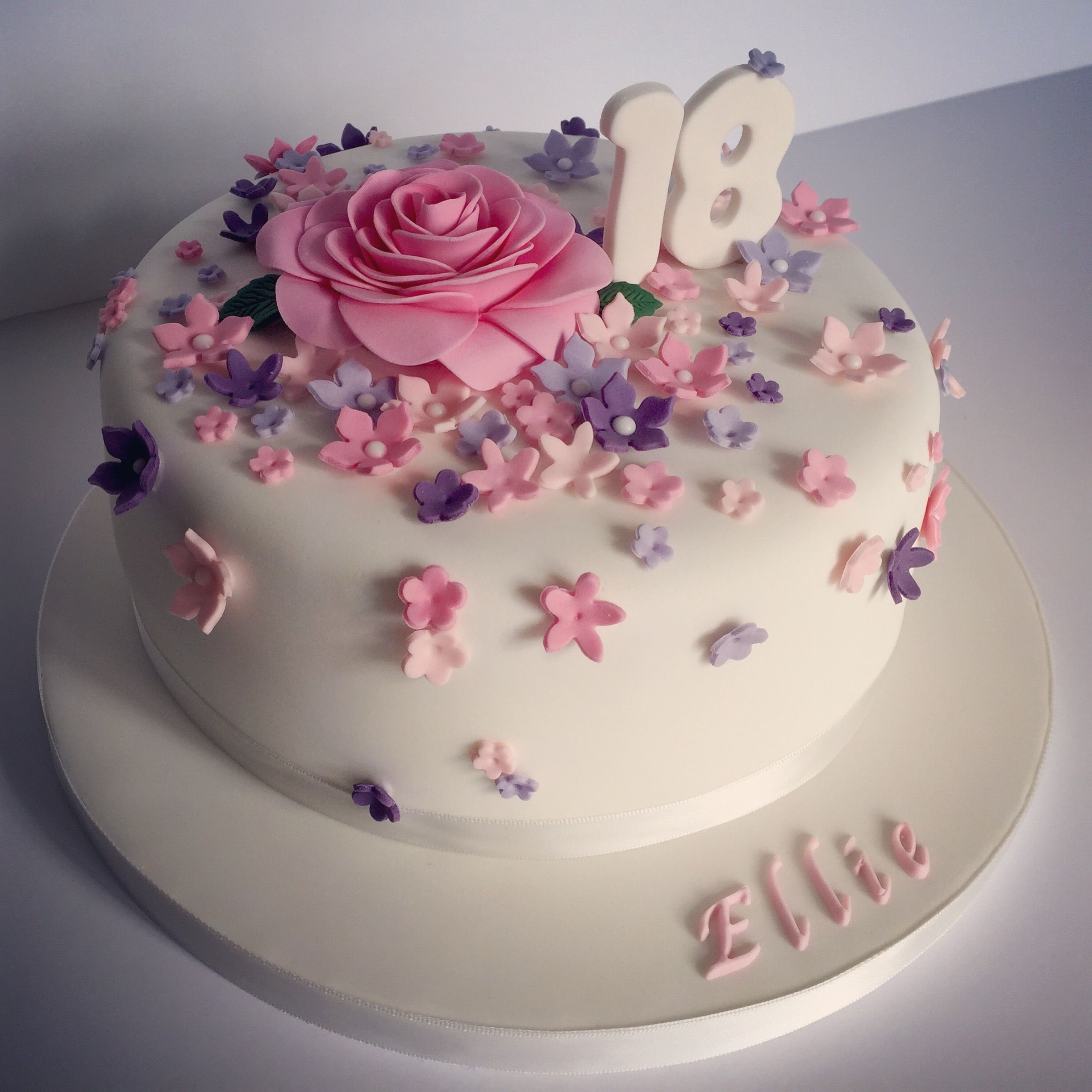 Birthday Cake Designs Pretty 18th Birthday Cake For Pretty Girl Design Elina Prawito