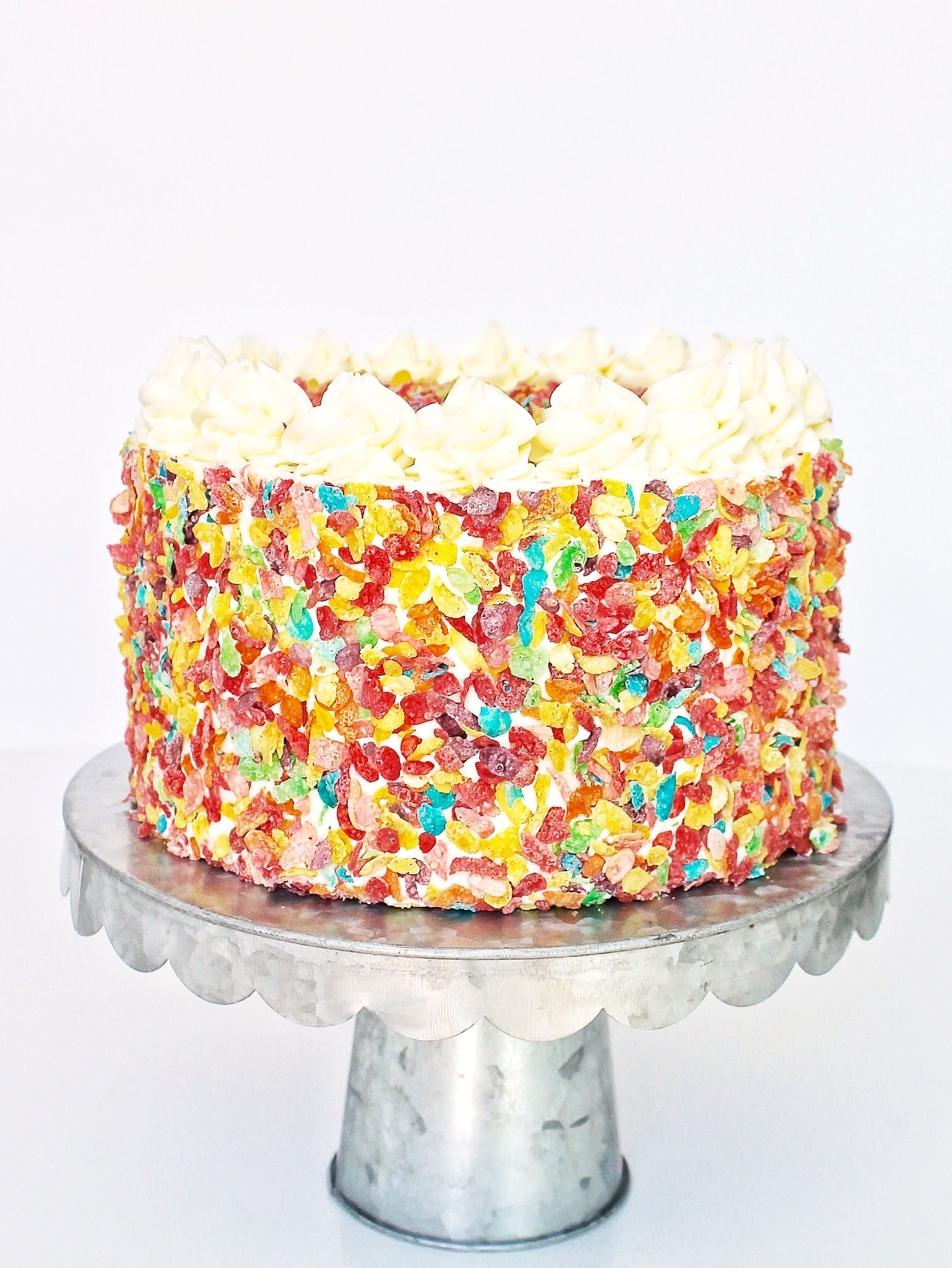 Birthday Cake Flavors Fruity Pebbles Cake Recipe Pastries Pinterest Cake Desserts