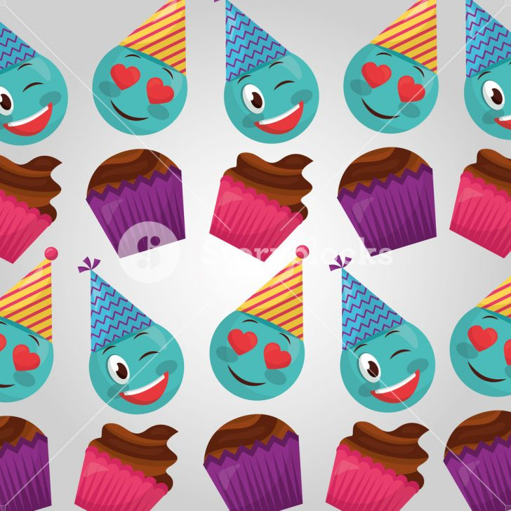 Birthday Cake Flavors Happy Birthday Cakes Flavors Emojis Making Gestures Party Hats