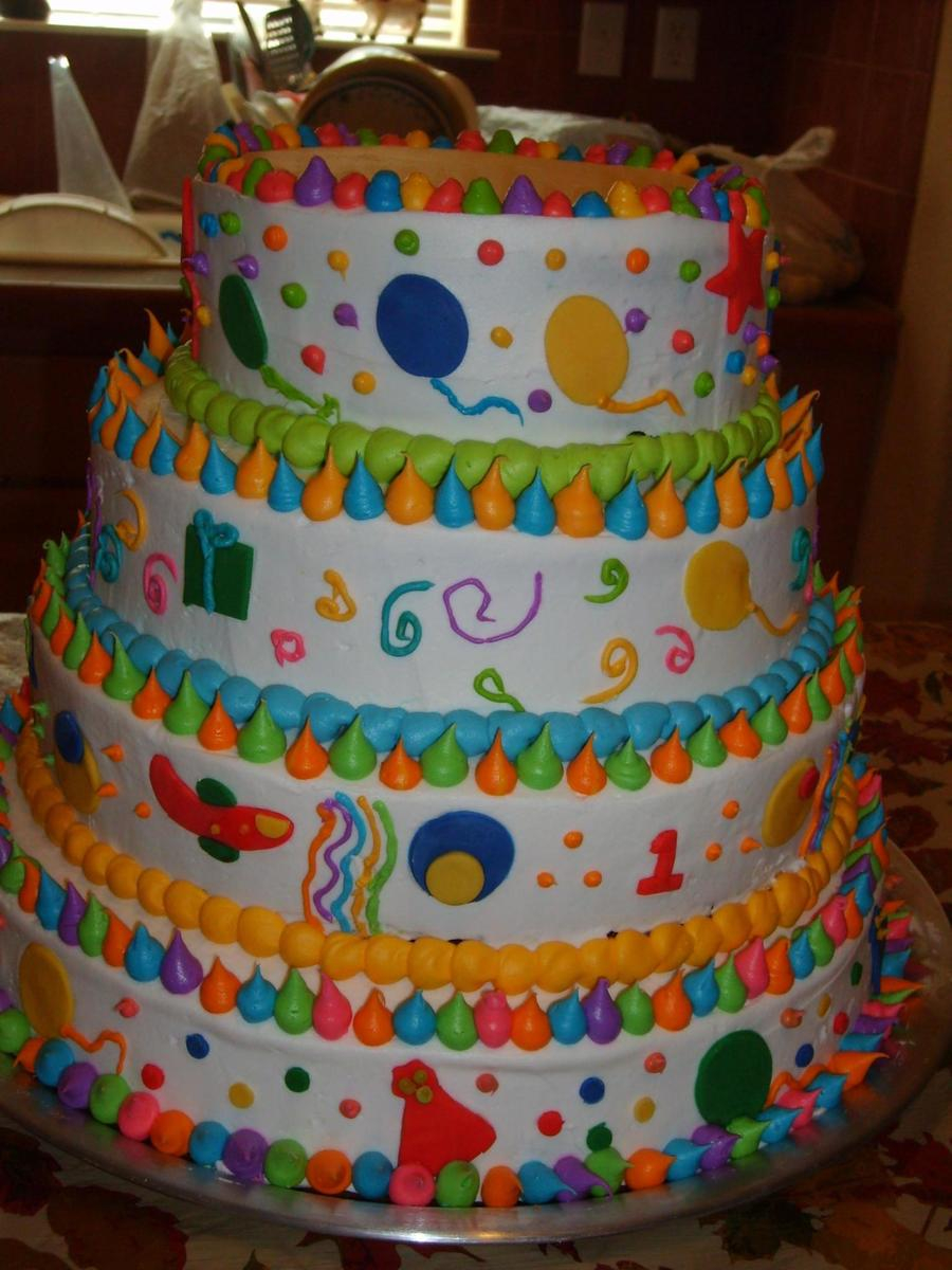 Birthday Cake For 1 Year Old 1 Year Old Birthday Cake Cakecentral