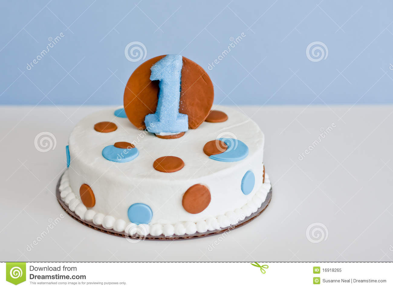 Birthday Cake For 1 Year Old Birthday Cake For One Year Old Ba Stock Image Image Of Ribbons