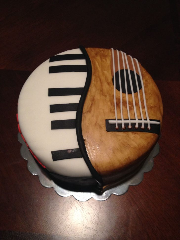 Birthday Cake For Boyfriend Dads Birthday Musicancake Food Lover Pinterest Cake