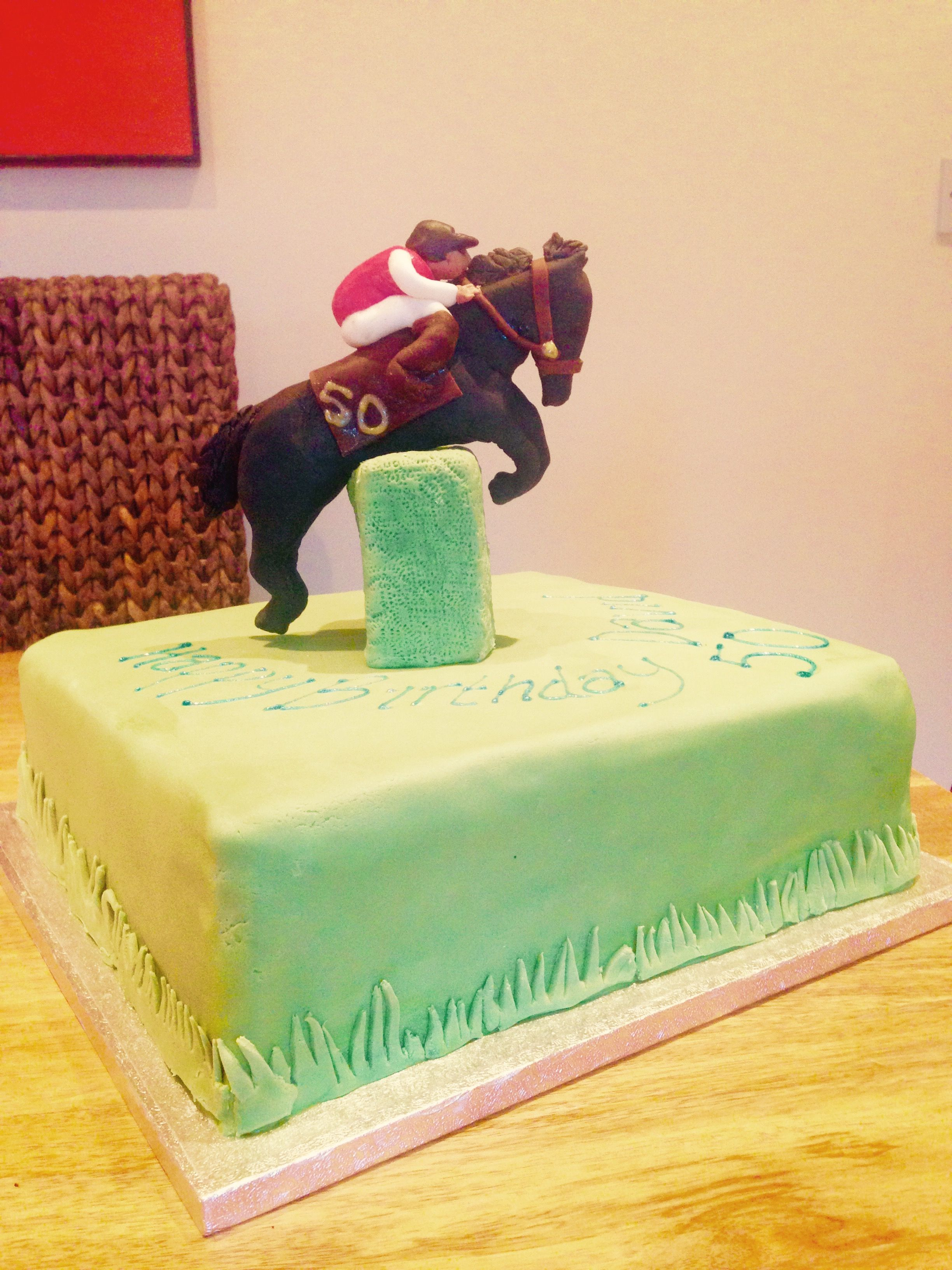 Birthday Cake For Brother 50th Birthday Cake For My Little Brother Race Horse Cake Cake