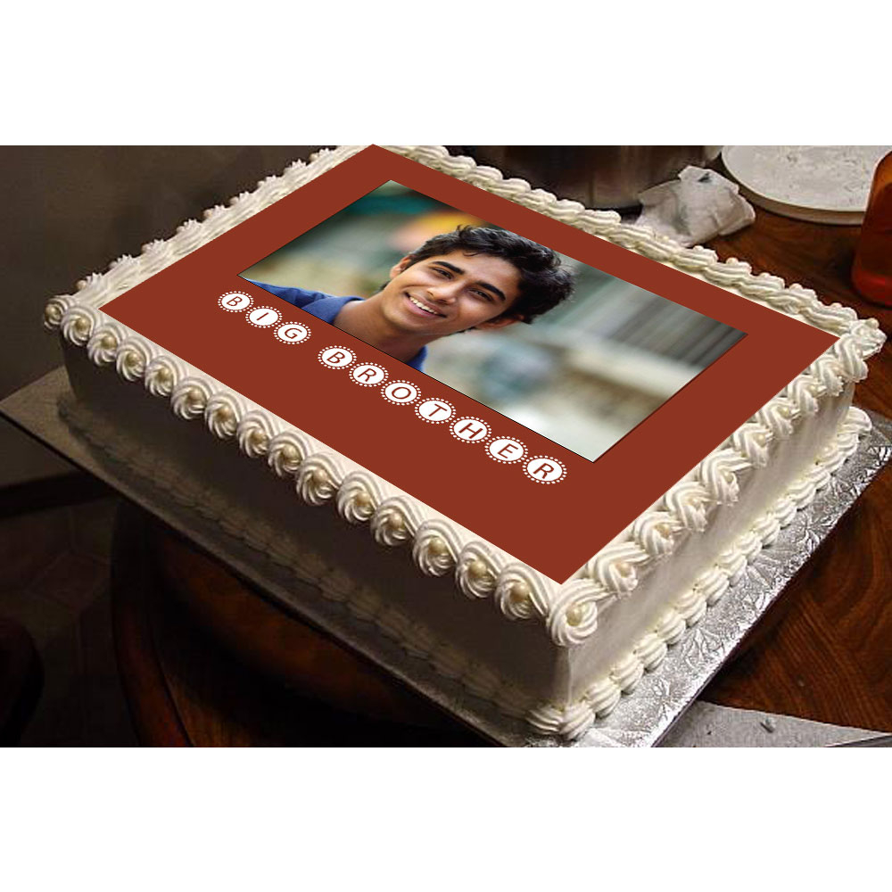 Birthday Cake For Brother Big Brother Personalized Photo Cake