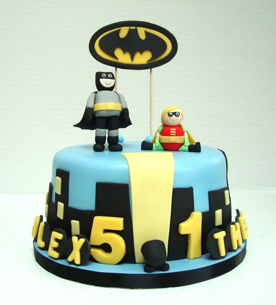 Birthday Cake For Brother Birthday Cake For Two Brothers Batman Is 5 And Robin Is 1 My Choc